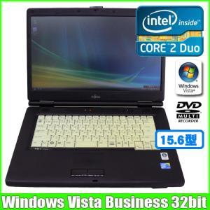 富士通 Fujitsu FMV-A8280  [core2Duo P8700 (2.53Ghz)/2G/80GB/DVDマルチ/15.6型ワイド/ Win Vista 32bit 無線]  :アウトレット 中古 ノートパソコン Office|whatfun