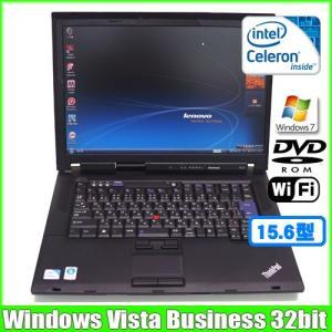 lenovo ThinkPad R500 2714 R99 [cele 900(2.2Ghz)/2G/160GB/DVD-ROM/無線/15.4型ワイド/Vista Bussiness ] :ランクA 中古 ノートパソコン