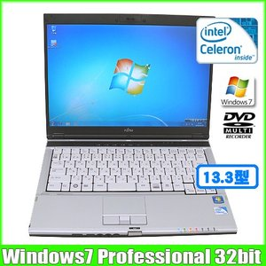 富士通 Fujitsu FMV-S8390 [celeron 900 (2.2Ghz)/2G/160GB/DVDマルチ/13.3型ワイド/ Win7 Pro 32bit 無線]  :ランクA 中古 ノートパソコン Office|whatfun
