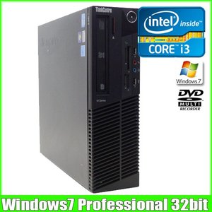 lenovo ThinkCentre M91 ultra small[core i3 2120 3.3GHz/2G/250GB/Windows7 Pro]DtoD領域有  中古 デスクトップパソコン|whatfun