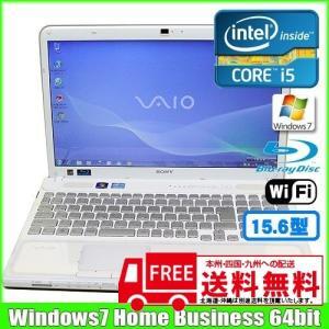 SONY VAIO VPCCB29FJ [corei5 2410M (2.3Ghz)/4G/640GB/Blu-ray無線LAN/Webカメラ/Win7 64bit/15.5型ワイド/テンキー] (White):美品 中古 ノートOffice付|whatfun
