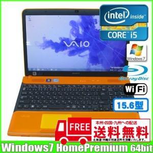 SONY VAIO VPCCB39FJ [corei5  2430M (2.40Ghz)/8G/750GB/Blu-ray無線/Webカメラ/Win7 64bit/15.5型ワイド] (Orange):良品 中古 ノートパソコン Office|whatfun