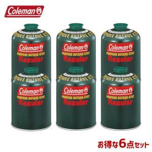 ガスカートリッジ Tタイプ Coleman コールマン 純正LPガス燃料 470g/6本セット 5103A470T 4992826304706|whatnot