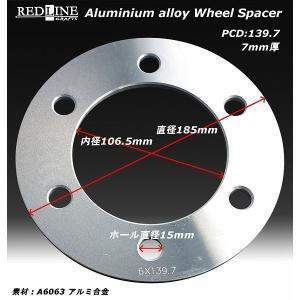 REDLINE ホイールスペーサー 6H/PCD139.7 ...