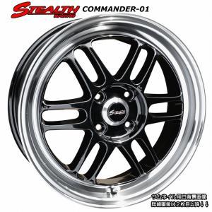 STEALTH Racing COMMANDER 01 精悍ブラック色 軽四用新品ホイール+タイヤ4本セット Hankook 165/45R16 タイヤ付|wheel-station