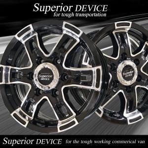 Superior DEVICE ハンコック 195/80R15 バン用タイヤ付 日産NV350キャラバン/日産E26キャラバン推薦サイズ|wheel-station