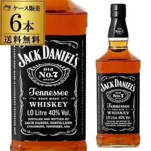 5/15〜16 P+2% ジャック ダニエル ブラック 40度 1,000ml 正規品 6本販売 送料無料 ウイスキー バーボン テネシー 1L 1000 長S|WHISKY LIFE PayPayモール店