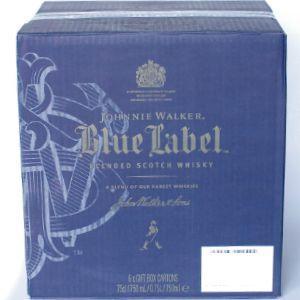 ジョニーウォーカー ブルーラベル750ml 40度  1ケース 6本入 専用箱付き シリアルナンバー