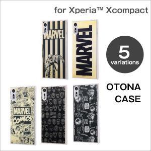 Xperia X Compact用 MARVEL TPUケース + 背面パネル OTONA|white-bang