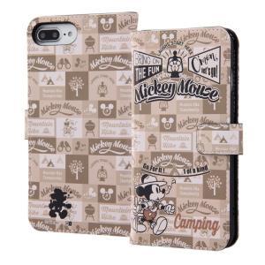 iPhone 8 Plus / 7 Plus / 6s Plus / 6 Plus ディズニー 手帳型アートケース マグネット / ミッキーマウス 15 キャラクター 手帳ケース disney_y white-bang