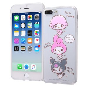 iPhone 8 Plus / 7 Plus ケース マイメロディ サンリオ TPUケース + 背面パネル / マイメロディ4 マイメロ white-bang