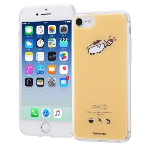 iphone8 ケース おしゅしだよ iphone7 ケース おしゅしだよ TPUケース + 背面パ...