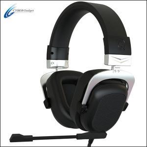cyber ゲーミングヘッドセット ps4 ヘッドセット ハイグレード 7.1chバーチャルサラウンド ノイズリダクション ブラック サイバーガジェット|white-bang