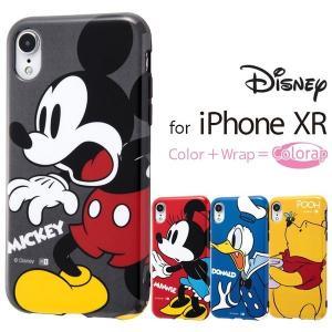 iPhone XR ケース ディズニー キャラクター TPUソフトケース Colorap / ミッキー ミニー ドナルド プーさん アイフォン カバー|white-bang