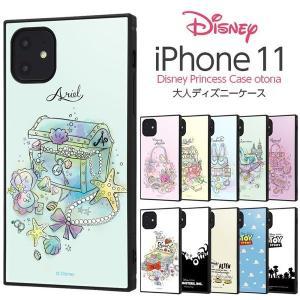 iPhone11 ケース スクエア ディズニー プリンセス 耐衝撃 KAKU アリエル ベル シンデ...