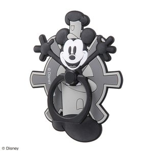 スマホリング ディズニー キャラクター ミッキー マウス 90周年デザイン スマートフォン用リング ミッキー スマホ リング ダイカット バンカーリング|white-bang