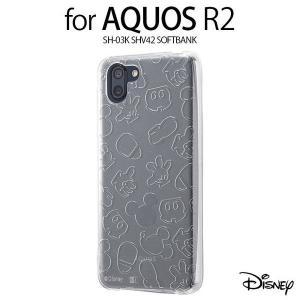 aquos r2 ケース ディズニー ミッキー キラキラ アクオスr2 カバー ミッキーマウス キャラクター shv42 sh-03k SoftBank アイコン クリアケース|white-bang