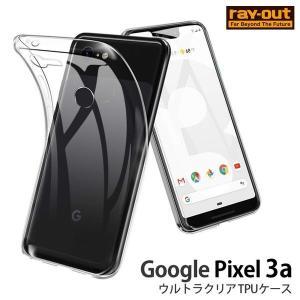 Google Pixel 3a ケース クリア TPU ウルトラクリア / 透明 グーグルピクセル カバー Pixel3a GooglePixel3a ストラップホール|white-bang