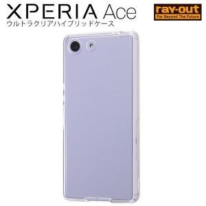 Xperia Ace ケース クリア ハイブリッド / 透明 エクスペリアace カバー|white-bang
