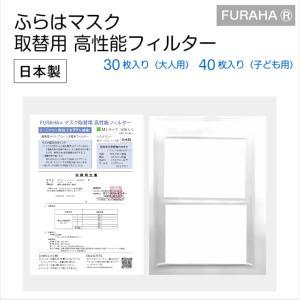 ふらは高性能 マスクフィルター 日本製 FURAHA ウイルス PM2.5マスク 花粉マスク (PFE) (VFE)  White Beauty|white-beauty