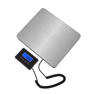 Disenkelubo 隔測式デジタル台はかり 最大180kg計量 0.05kg単位 LED時間表示付き (180kg) 電子秤 デジタルはかり|white-daisy