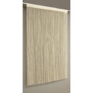 日本製 フリーカット ひものれん ストリングスカーテン <約85cm巾×150cm丈> ベージュ ns1005-150-BE (ベージュ)|white-daisy