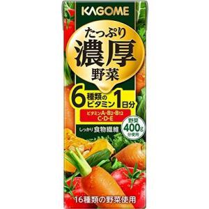 カゴメ たっぷり濃厚野菜 200ml ×24本|white-daisy