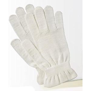 京都西陣の絹糸屋さんのシルク手袋 (ホワイト)|white-daisy