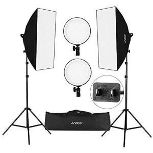 Andoer 写真撮影ソフトボックス照明キット LEDライトキット 20 * 28インチソフトボックス 45W 2色温度 2700K / 5500K|white-daisy