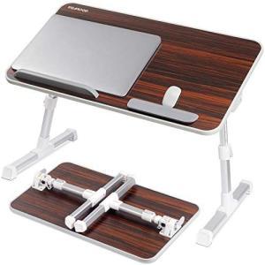 NEARPOW 改良版 折りたたみ式 ノートパソコンスタンド ベッドテーブル 4つ組み立て方 両・右・左利き対応 ローテーブル 机上台 (ブラウン)|white-daisy