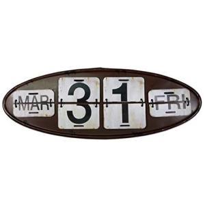 USA アメリカン デザインカレンダー USA 日めくり カフェ ガレージ インダストリアル ビンテージ バイカー インテリア (007 ブラウン)|white-daisy