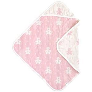SOULEIADOモン・ヌヌース ふくふくガーゼ(6重ガーゼ) アフガン ピンク (ピンク 85x85cm) white-daisy