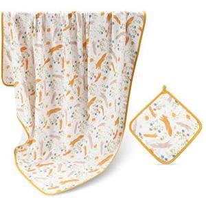 Hapipana ブランケット 赤ちゃん 新生児 バスタオル おくるみ 絨毯 柔らかい ガーゼ ふとん (花の茂み 120x120cm) white-daisy