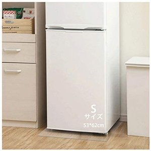 冷蔵庫マット 無色 透明 53*62cm 厚さ2.0mm PVC キズ防止 凹み防止 床保護シート 滑り止め 床暖房対応 (S-53*62cm) white-daisy