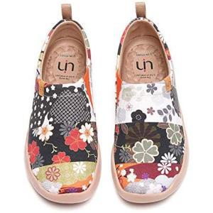 [UIN] 旅行靴 スリッポン レディース スニーカー 和風コレクション 靴 シューズ ウォーキングシューズ クッション性(花 24.0 cm)|white-daisy