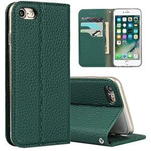 Sailortech iphone SE (第2世代) ケース手帳型 iPhone8 カバー iPhone7 (濃い緑色 iPhone 7/8)|white-daisy