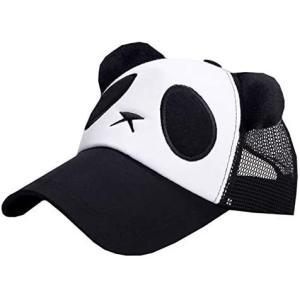 BUZZxSELECTION(バズ セレクション) メッシュ キャップ 帽子 パンダ アニマル おもしろ メンズ (03 ブラック サイズ)|white-daisy