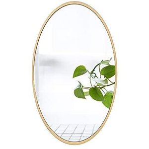 鏡 ミラー 壁掛け鏡 化粧鏡 壁掛けミラー 玄関 洗面 トイレ 店舗 おしゃれ ヨーロッパ調 楕円 (40x60cm) (40x60cm)|white-daisy