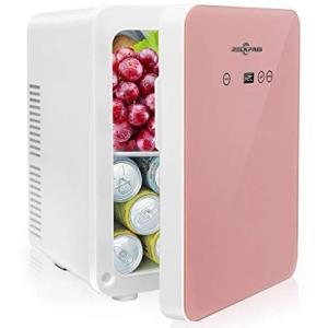 Rockpals 小型冷温庫 氷点下−2℃60℃ 10L 保冷庫 ミニ冷蔵庫 温度調節可能 保温・保冷両用 温度表示 (ピンク 10L) white-daisy