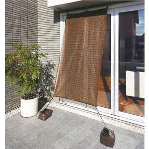 ワタナベ工業 オーニング ハイスルーシェード [2枚セット / ブラウン / 選べる4サイズ] (2×1m) (ブラウン 2×1m)|white-daisy