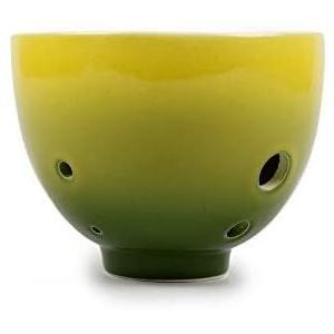 TNG オカリナ [ 6穴 / アルト/グリーン ] 楽器 C調 AC (運指表付き) チャカリナ お椀型 管吹奏 (緑色 F) white-daisy