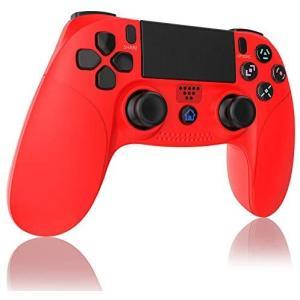 2020年の最新版PS4 コントローラー 無線 Bluetooth接続 Aerku 最新版システム対応 HD振動 重力感応 タッチボタン (赤)|white-daisy