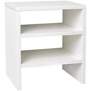 本棚 棚 卓上 収納棚 本立て ブックスタンド ラック2段 収納ラック 机上台 モニター台 木製 マンガ デスク 収納 デスクトップ 台 (白)|white-daisy