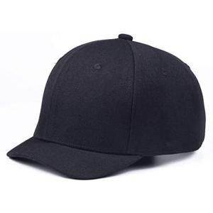[ハベリィ] キャップ 帽子 野球 帽 アンパイア 無地 カーブ ベースボール ロールキャップ メンズ (ブラック M)|white-daisy