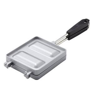 ロゴス(LOGOS) ホットサンドパン ミミあり調理可 分割洗い可 ロゴ焼印 ホットサンドメーカーの画像