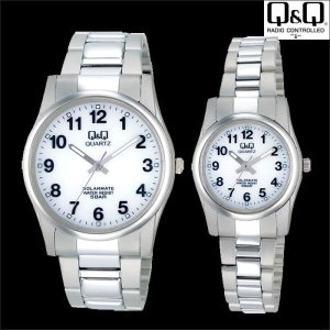 Q&Q 腕時計 ソーラー電源アナログ時計 メンズ腕時計 ソーラーメイト H970 うでどけい wide02