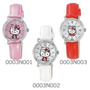 シチズン 腕時計 レディース ハローキティ キティちゃん キティ HELLO KITTY Q&Q ハローキティウォッチ JAPANモデル 0003Nシリーズ ラインストーン wide02