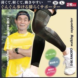 膝 サポーター 2枚組 スポーツ ランニング ウォーキング 坂本トレーナーのぐんぐん歩ける膝らくサポーター wide02