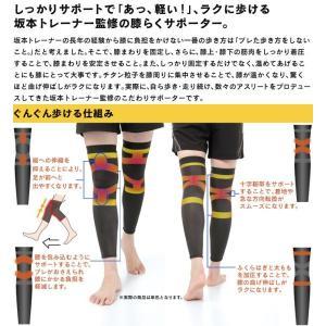 膝 サポーター 2枚組 スポーツ ランニング ウォーキング 坂本トレーナーのぐんぐん歩ける膝らくサポーター wide02 03
