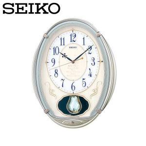 セイコー ウエーブシンフォニー 壁掛け時計 電波掛時計 アナログ おしゃれ 掛け時計 掛時計 かけどけい 電波時計 SEIKO AM222H Wave Symphony|wide02